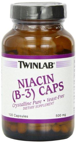 Twinlab Ниацин (B-3) 500 мг, 100 капсул (упаковка 4)