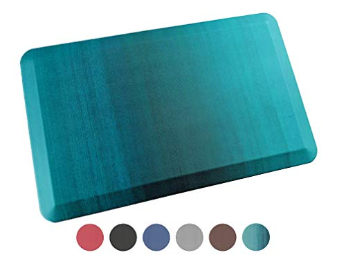 Anti Fatigue Comfort Floor Mat By Sky Mats - Commercial Grade Quality Perfect for Standup Desks, Kitchens, and Garages - Relieves Foot, Knee, and Back Pain, 20x39 Inch, Green Ombré