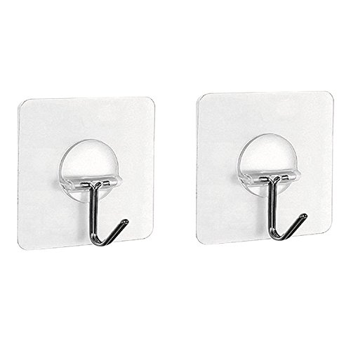 Costumes Starting With The Letter A (Kaimao Transparent Super Heavy Duty Solid Glue Wall Hooks for Towel Loofah Bathrobe Clothes, No Scratch, Waterproof and Oilproof, Bathroom Kitchen Wall hook (2pcs))