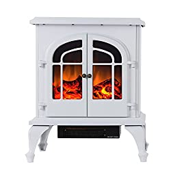 """Valuxhome Burbank 24"""" 750W/1500W, Compact Free Standing Electric Fireplace Heater from Valuxhome"""