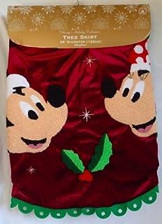 Wonderful Disney Parks Santa Mickey U0026 Minnie Mouse Holly Christmas Holiday Tree Skirt