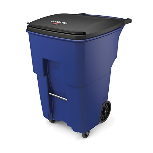 Rubbermaid Commercial 1971996 Brute Rollout Trash Can with Casters, 95 gal/360 L, 46.020