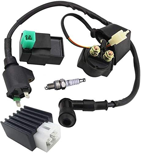 Ignition Coil,Relay CDI Rectifier Spark Plug 5 Pin Regulator For CG 49cc 50cc 70cc 90cc 110cc 125cc ATV Chinese Go kart Dirt bike TaoTao SUNL Roketa Kymco Jonway Coolster Kazuma Meerkat