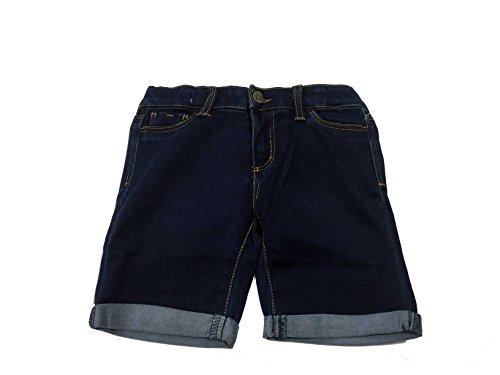Tractor Girls Stretch Bermuda Denim Shorts Adjustable Inner Waist (6, Dark - Jean Waist Adjustable Shorts