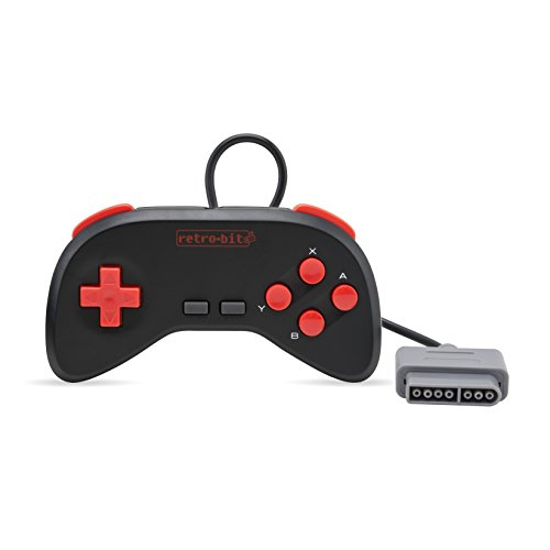 Retro-Bit Retro Duo Twin Video Game System NES and SNES V3.0 – Black/Red