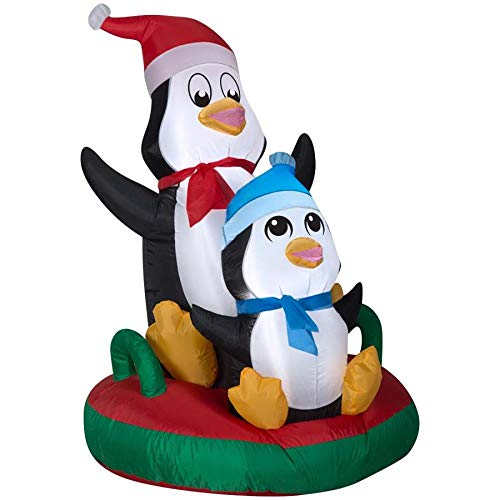 Penguin Duo (Holiday Living 4-ft x 2.95-ft Lighted Penguin Christmas Inflatable)