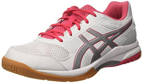 White White Shoes Silver Asics Volleyball Rouge 0119 Rocket Gel Red 8 Women's 7awwXqUY0