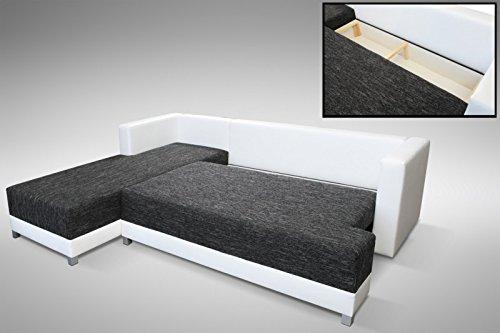 Schlafsofa Sofa Couch Ecksofa Eckcouch Schwarz / Weiss Schlaffunktion  Wien  1  L: Amazon.de: Küche U0026 Haushalt
