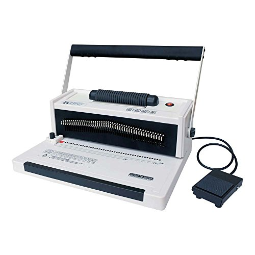 TruBind Coil-Binding Machine - With Electric Coil Inserter and Foot Pedal - TB-S20AP - Professionally Bind Books and Documents - Home or Office Use - Adjustable Hole Punching and Paper Sizes