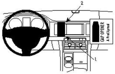 Brodit 854200 Proclip Mount For Jaguar Xf 09 10 Elektronik
