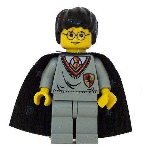 Harry Potter (Gryffindor Shield Torso, Cape, YF) - LEGO Harry Potter Figure by LEGO