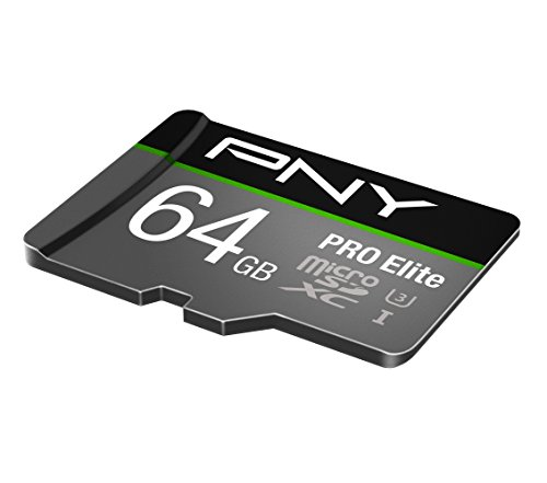 PNY U3 PRO Elite MicroSD Card - 64GB - P-SDUX64U395PROE-GE