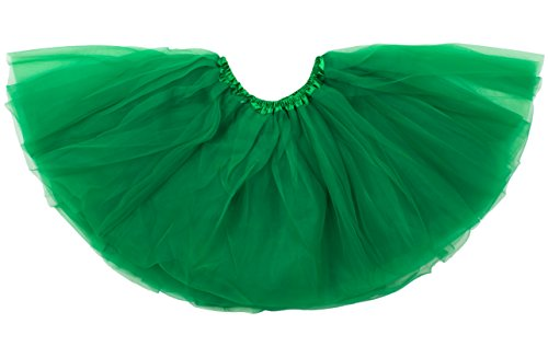 Dancina Tutu Little Girl's Mardi Gras St Patrick's Day Parade Costume Ruffled Skirt 2-7 Years Green -