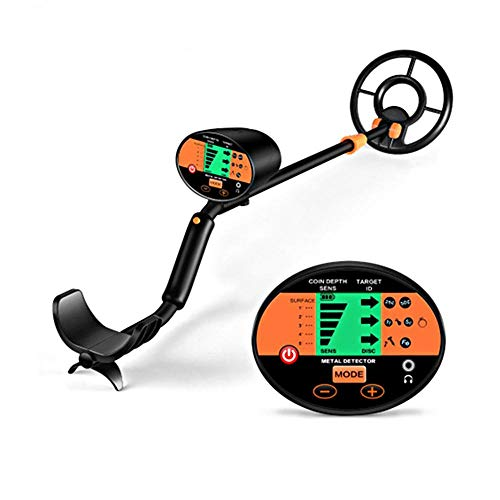 Womdee Metal Detector High Accuracy Waterproof 3 Modes Outdoor Gold Digger with Sensitive Search Coil LCD Display and 190mm Waterproof Search Coil for Beginners Professionals Treasure Hunting