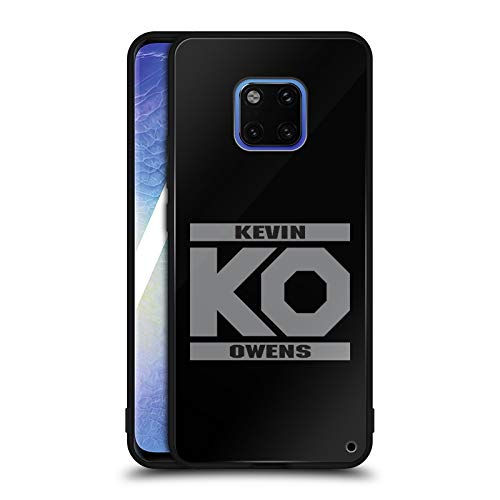 Official WWE KO Fight Kevin Owens Black Hybrid Glass Back Case Compatible for Huawei Mate 20 Pro ()