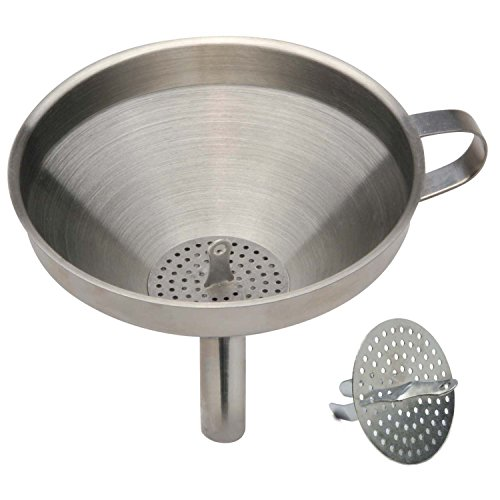 Norpro 5 1/2-Inch Stainless Steel Funnel with Detachable Strainer