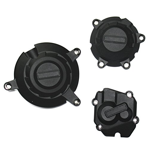 1 Set Black Engine Stator Crank Case Suitable for for Sakkawa Kawasaki ZX-10R 2011 Onwards 2015 Engine Cover Protectors Engine Cover for Protection: