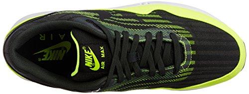 Nike Air Max 1 Lunari Jcrd Neri Scarpe Da Uomo Di Colore Giallo Sneakers Nuovo Nero