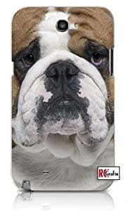 Cute Bulldog Dog Apple Iphone 5 Quality TPU Soft Rubber Case for Iphone 5/5s - AT&T Sprint Verizon - White Case