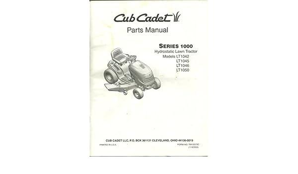 Array - cub cadet parts manual series 1000 hydrostatic lawn tractor      rh   amazon com
