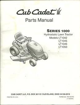 cub cadet parts manual series 1000 hydrostatic lawn tractor models rh amazon com Cub Cadet LT1050 Engine Spec Cub Cadet LT1050 Fuel Problems