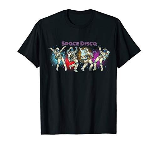 Space Disco T-Shirt - Music Loving Astronaut Dancing -