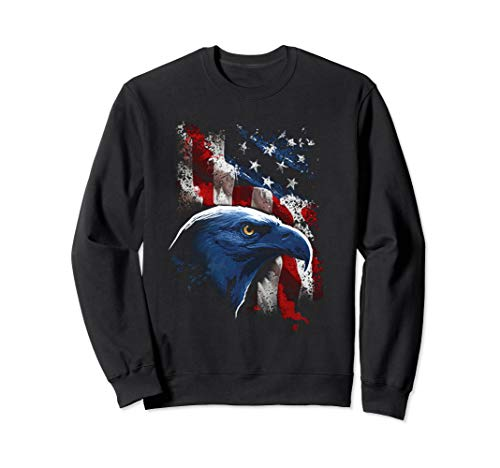 American Eagle Patriot T-Shirt US Flag With Eagle Gift Shirt ()