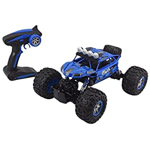 Jovial Wireless Remote Control Rock Crawler RC Monster Truck RTR Off Road Waterproof Toy Car for Any Outdoor Terrain - With Rechargeable Battery Pack & USB charger - Enjoyable for Kids & Teens - JRC20