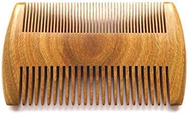 櫛 ヘアコーム ヘアケアブラシ 手作りの天然サンダルウッドコーム - ふけ防止、帯電防止、環境にやさしい - 頭皮と髪の健康に良い歯と広い歯に適しています (色 : Wood color)