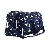 Printed Duffle Bag- Navy Anchor