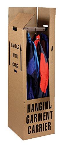 Cardboard Wardrobe Boxes 510 x 457 x 1220mm (18ins Bar), Packaging2Buy