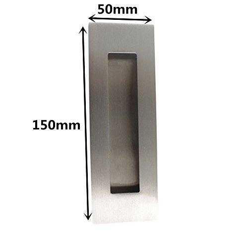 Recessed sliding door handles