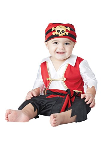[California Costumes Baby Boys' Pee Wee Pirate Infant, Black/White/Red, 12 to 18 Months] (Couples Scary Costumes)