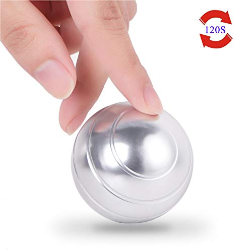 samisoler ADHD Fidget Toys for Adults and Kids, Kinetic Desk Toy for Office Stress Relief. Optical Illusion Metal Spinner Ball for Anti-Anxiety, Keep Focus, Relaxing.