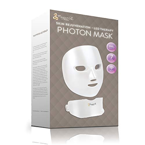 Project E Beauty 7 Colors LED Mask Face & Neck Photon Light Skin Rejuvenation Therapy Facial Skin Care Wireless Mask by Project E Beauty (Image #7)