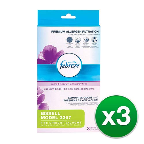 Febreze Bissell Style 3267 Vacuum Bags with Kit (3 Pack) by Febreze