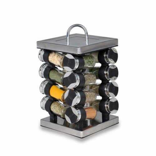 Orii Gourmet Linx 16 Jar Spice Rack, Stainless Steel GSR3320