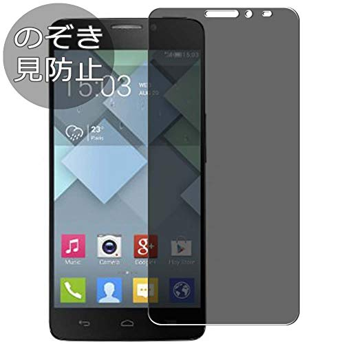 Synvy Privacy Screen Protector Film for Alcatel one Touch Idol x 6040 x6040 OneTouch Anti Spy Protective Protectors [Not Tempered Glass] New Version (Alcatel Idol X 6040 Screen)