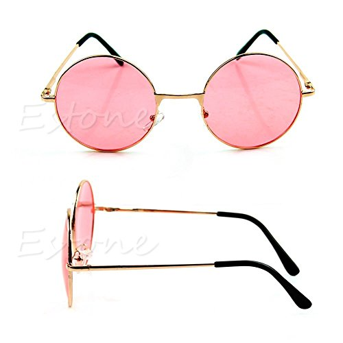 Women Colorful Lens Sunglasses Eyewear Plastic Frame Glasses Retro Round - Frames Wood Cartier