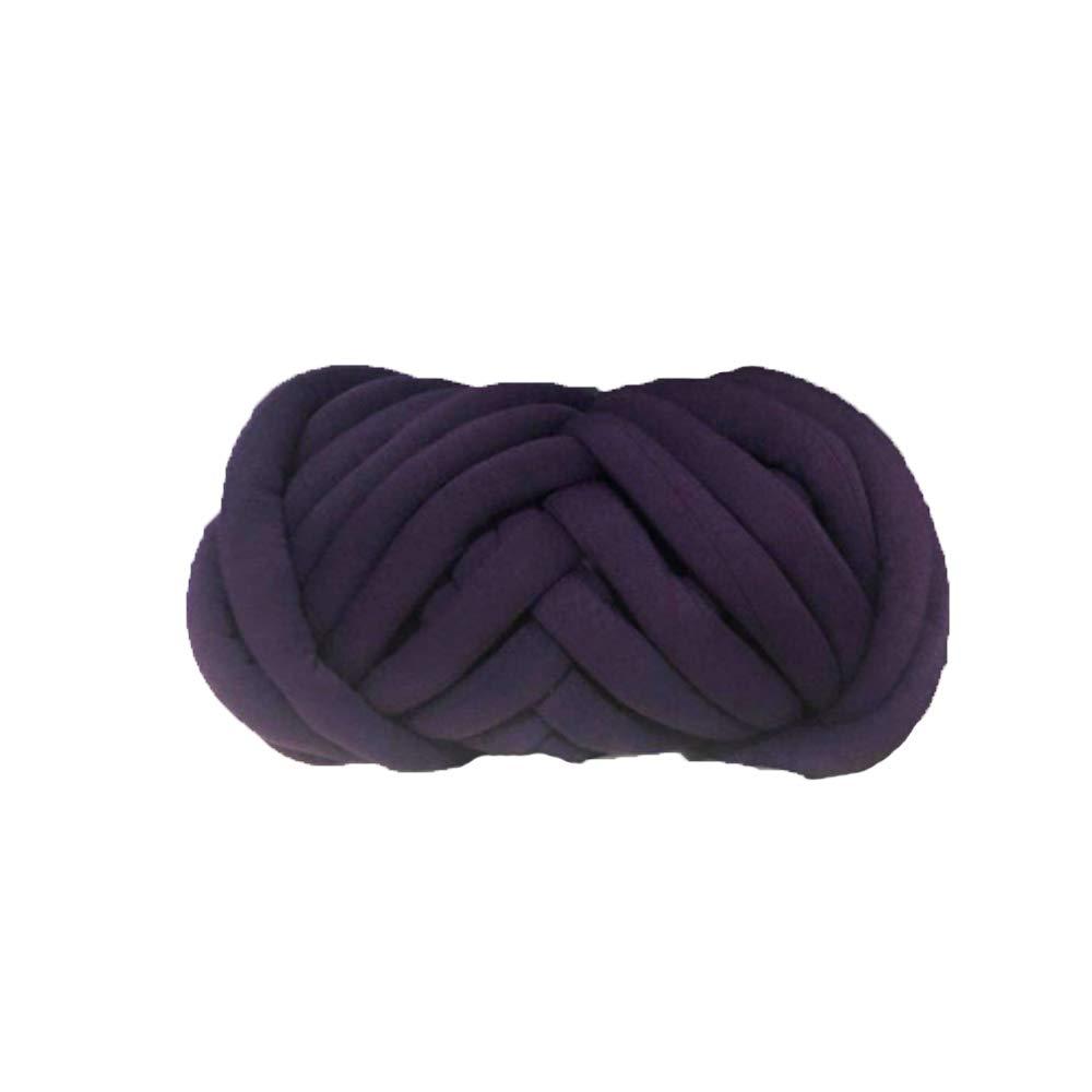 80 Meters Chunky Cotton Yarn,Deep Purple Arm Knitting Yarn,Bulky Yarn,Jumbo Yarn,Giant Yarn,Cotton Tube Yarn,Vegan Chunky Yarn,Crochet Yarn,Knitting Material
