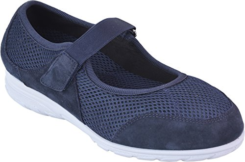 Cosyfeet Bounce Shoes - Extra Roomy (Eeeee+ Width Fitting) Navy Nubuck/Textile sl31AJ