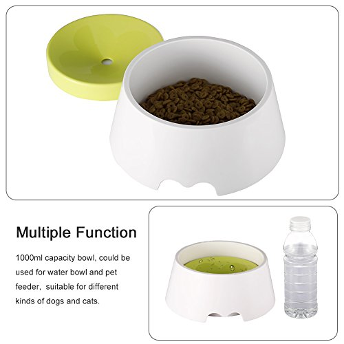 Petacc 2 in 1 Innovative Pet Bowl Anti-Spill No Spill Dripless Bowl Water Food Bowl for Dogs and Cats, 1000ml