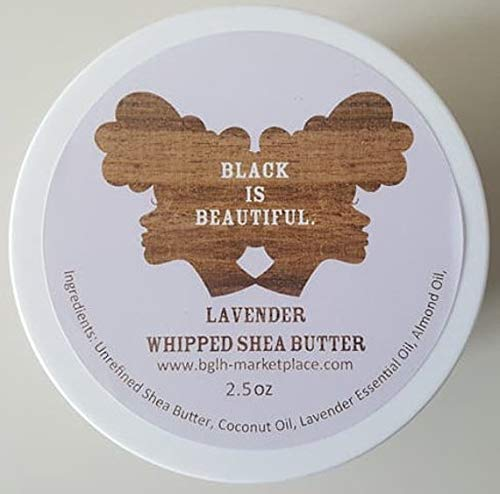 Butter Shea Whipped Handmade (Lavender Whipped Shea Butter - Whipped Body Butter - Whipped Hair Butter - 2.5 Ounces)