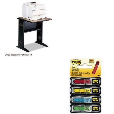 KITMMM684SHSAF1934 - Value Kit - Safco Fax/Printer Stand w/Reversible Top (SAF1934) and Post-it Arrow Message 1/2amp;quot; Flags (MMM684SH) -