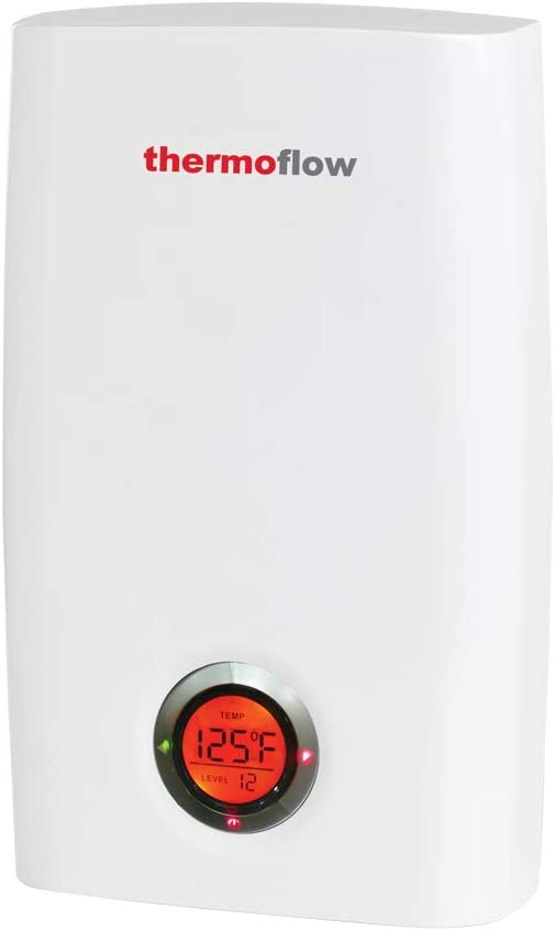 Thermoflow Electric Tankless Water Heater, 18kW at 240 Volts Instant Hot Water Heater with Self-Modulating Temperature Technology, CSA Listed, Indoor