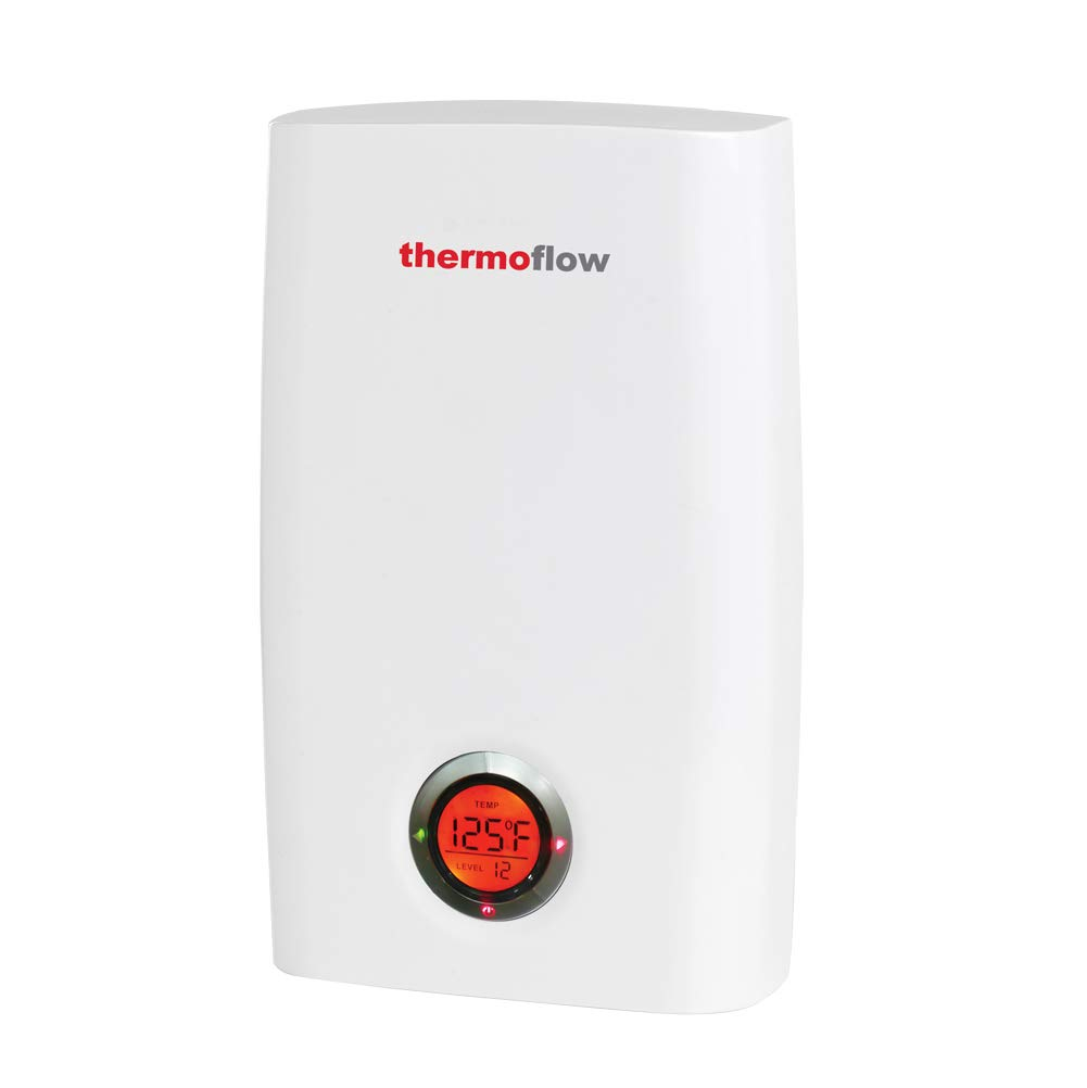 Thermoflow Electric Tankless Water Heater, 24kW at 240 Volts Instant Hot Water Heater with Self-Modulating Temperature Technology, CSA Listed, Indoor