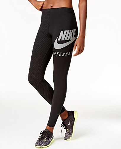Nike Womens International AOP Legging Black/Black 827300-010 Size Medium