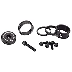 Add personality and style to your bike with this precision engineered and machined stem cap and spacer kit. Kit includes:• 3mm, 5mm, 10mm, & 15mm headset spacers• Ultralight stem cap with an integrated 5mm spacer• 4 matching aluminum wate...