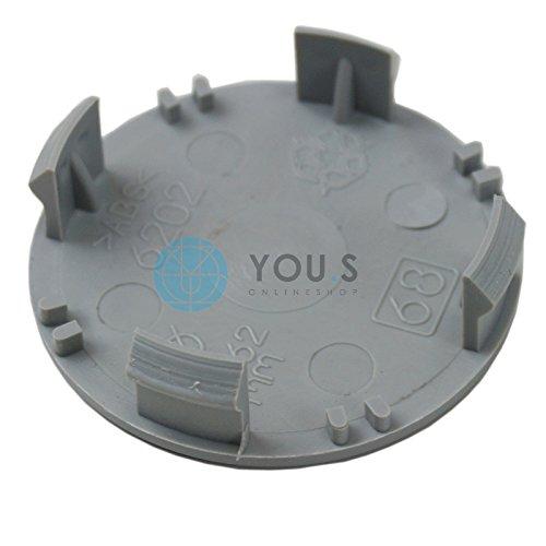 4 x Nabenkappen Nabendeckel Felgendeckel Grau Aussen 62,0 mm Innen 60,0 mm