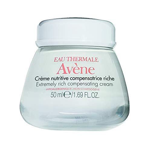 Eau Thermale Avene Extremely Rich Compensating Cream, Ultra Nourishing Face Moisturizer, Non-Comedogenic 1.6 oz.
